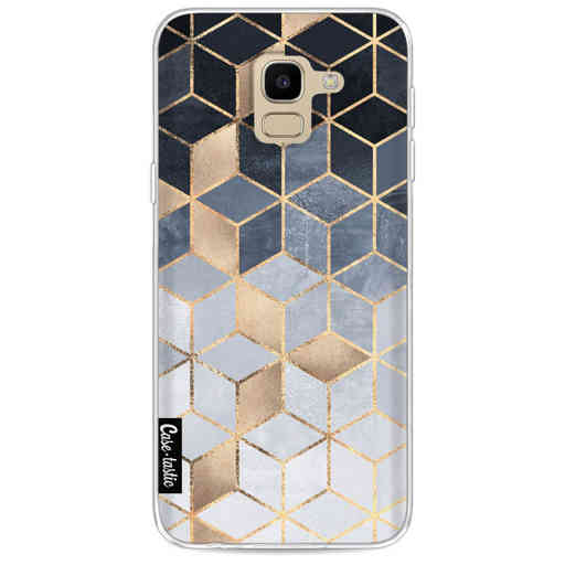 Casetastic Softcover Samsung Galaxy J6 (2018) - Soft Blue Gradient Cubes