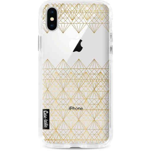 Casetastic Dual Snap Case Apple iPhone X / XS - Golden Diamonds