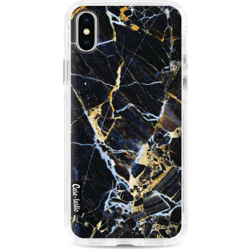Casetastic Dual Snap Case Apple iPhone X / XS - Black Gold Marble