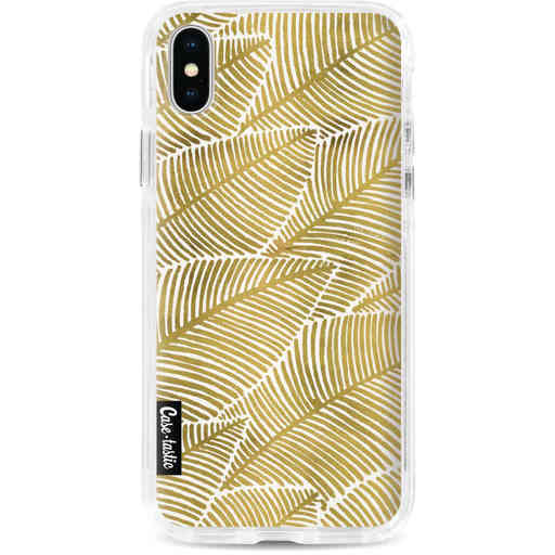 Casetastic Dual Snap Case Apple iPhone X / XS - Tropical Leaves Gold