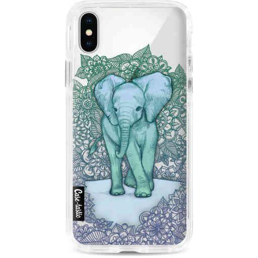 Casetastic Dual Snap Case Apple iPhone X / XS - Emerald Elephant