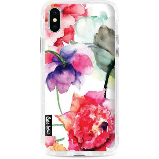 Casetastic Dual Snap Case Apple iPhone X / XS - Watercolor Flowers