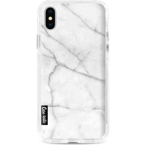 Casetastic Dual Snap Case Apple iPhone X / XS - White Marble