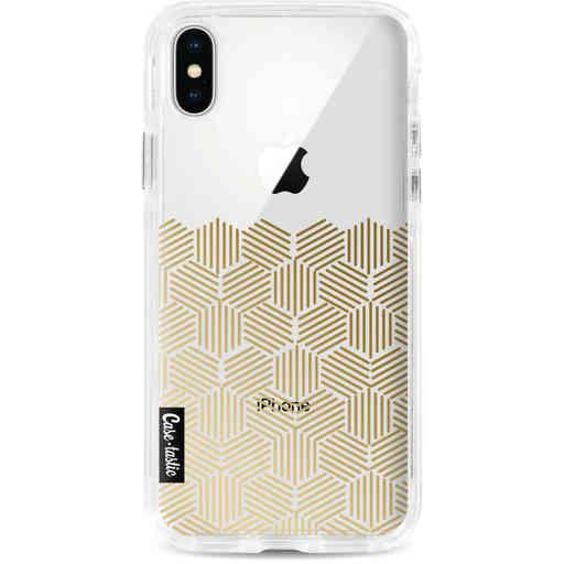 Casetastic Dual Snap Case Apple iPhone X / XS - Golden Hexagons