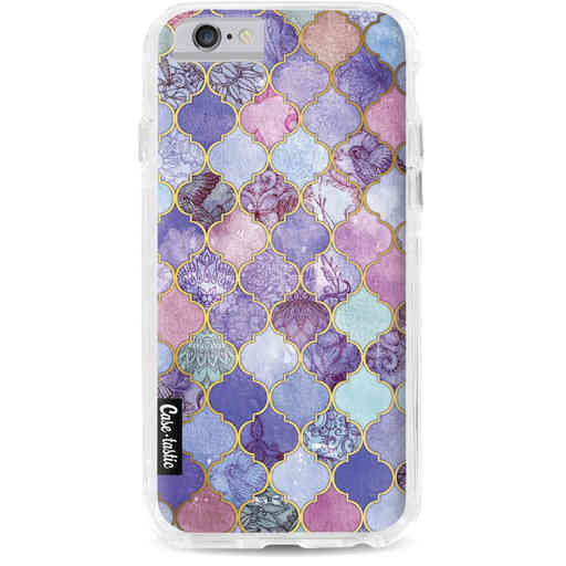 Casetastic Dual Snap Case Apple iPhone 6 / 6s - Purple Moroccan Tiles