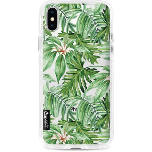 Casetastic Dual Snap Case Apple iPhone X / XS - Transparent Leaves