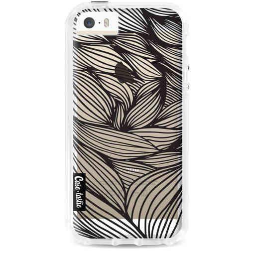Casetastic Dual Snap Case Apple iPhone 5 / 5s / SE - Wavy Outlines Black