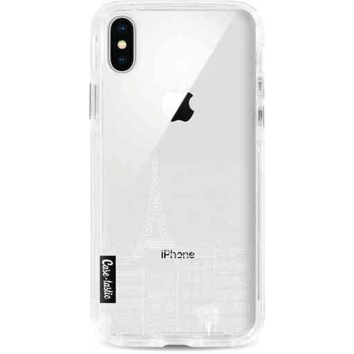 Casetastic Dual Snap Case Apple iPhone X / XS - Paris City houses White