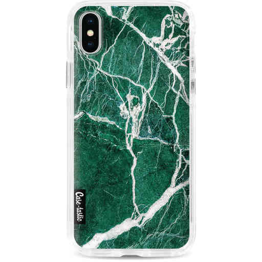 Casetastic Dual Snap Case Apple iPhone X / XS - Dark Green Marble