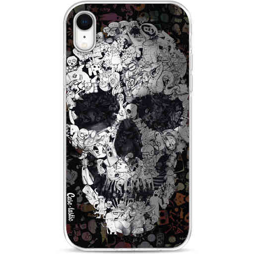 Casetastic Softcover Apple iPhone XR - Doodle Skull BW