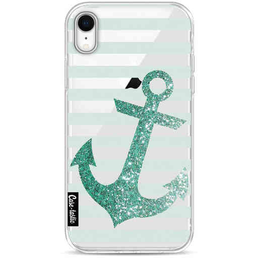 Casetastic Softcover Apple iPhone XR - Glitter Anchor Mint
