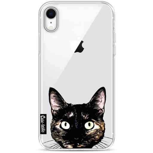 Casetastic Softcover Apple iPhone XR - Peeking Kitty
