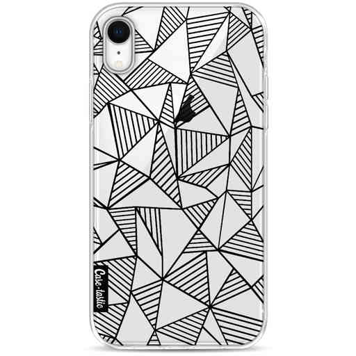 Casetastic Softcover Apple iPhone XR - Abstraction Lines Black Transparent