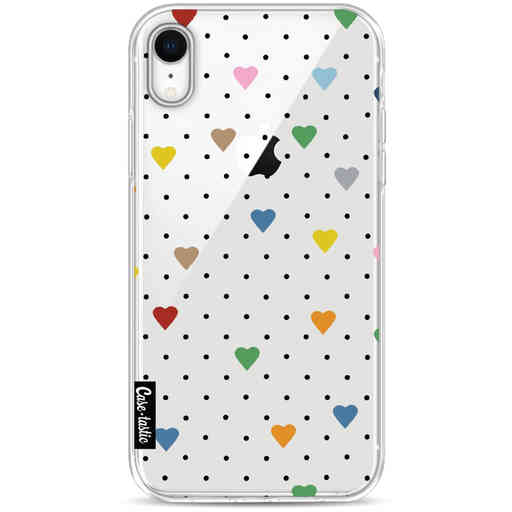 Casetastic Softcover Apple iPhone XR - Pin Point Hearts Transparent