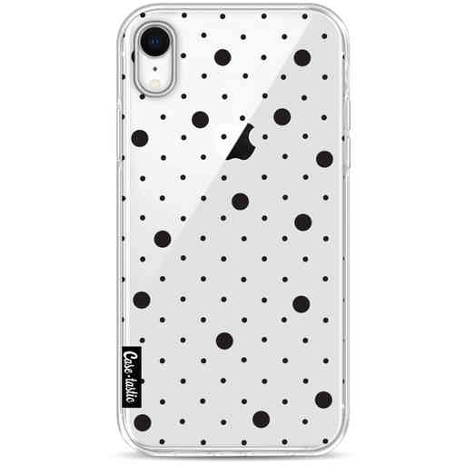 Casetastic Softcover Apple iPhone XR - Pin Points Polka Black Transparent