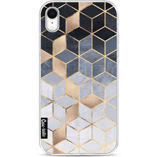 Casetastic Softcover Apple iPhone XR - Soft Blue Gradient Cubes