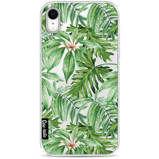 Casetastic Softcover Apple iPhone XR - Transparent Leaves