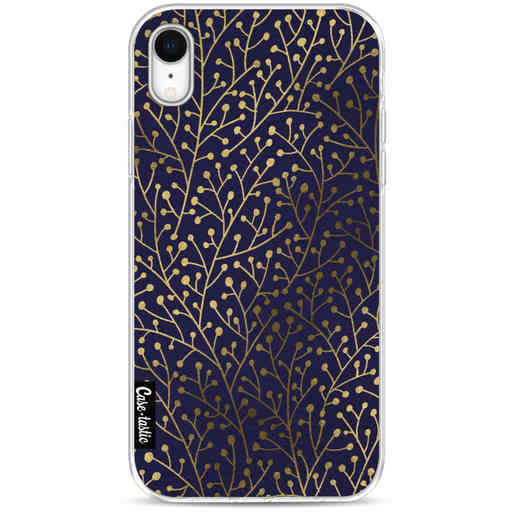 Casetastic Softcover Apple iPhone XR - Berry Branches Navy Gold