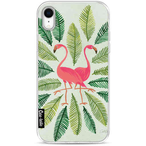 Casetastic Softcover Apple iPhone XR - Flamingos Green
