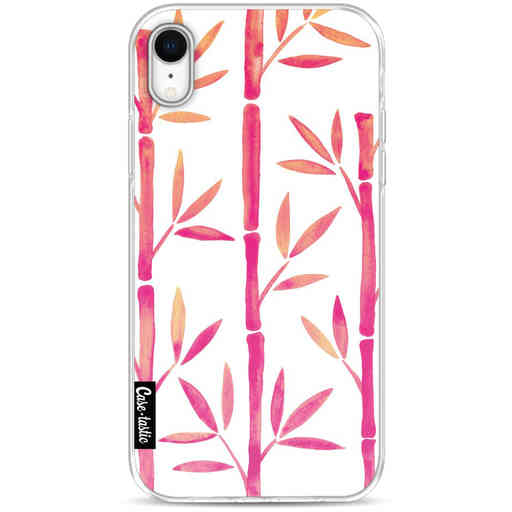 Casetastic Softcover Apple iPhone XR - Pink Bamboo Pattern