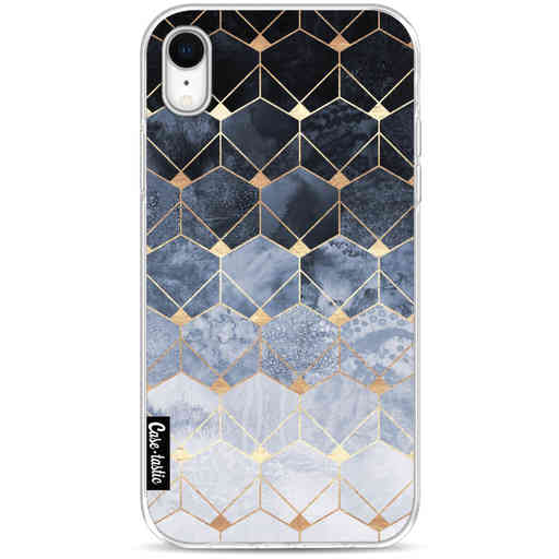 Casetastic Softcover Apple iPhone XR - Blue Hexagon Diamonds