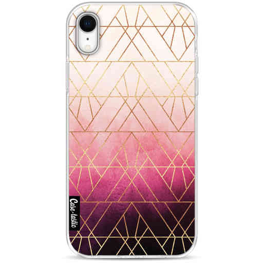 Casetastic Softcover Apple iPhone XR - Pink Ombre Triangles