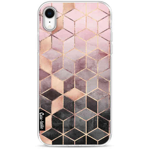 Casetastic Softcover Apple iPhone XR - Soft Pink Gradient Cubes