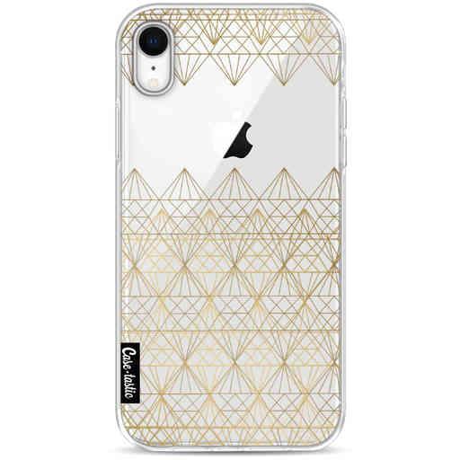 Casetastic Softcover Apple iPhone XR - Golden Diamonds