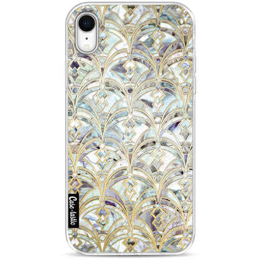 Casetastic Softcover Apple iPhone XR - Mint Art Deco Marbling