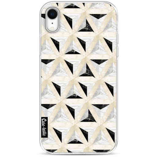 Casetastic Softcover Apple iPhone XR - Marble Triangle Blocks