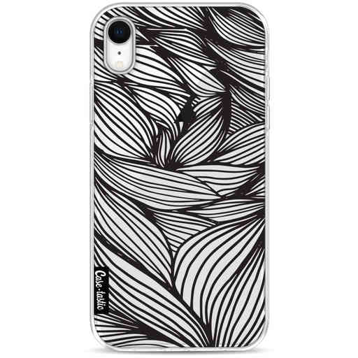 Casetastic Softcover Apple iPhone XR - Wavy Outlines Black
