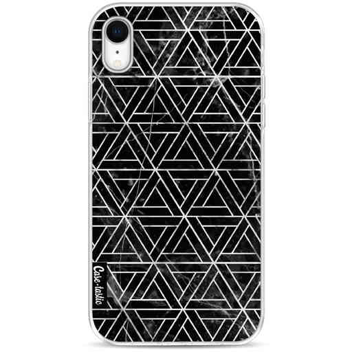 Casetastic Softcover Apple iPhone XR - Abstract Marble Triangles