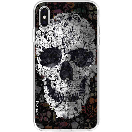 Casetastic Softcover Apple iPhone XS Max - Doodle Skull BW