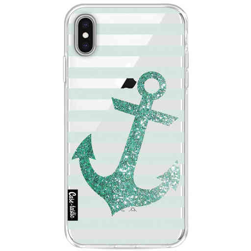 Casetastic Softcover Apple iPhone XS Max - Glitter Anchor Mint