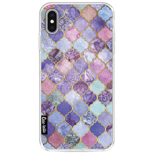 Casetastic Softcover Apple iPhone XS Max - Purple Moroccan Tiles