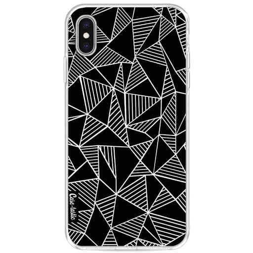 Casetastic Softcover Apple iPhone XS Max - Abstraction Lines Black