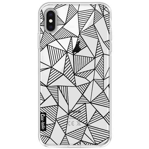 Casetastic Softcover Apple iPhone XS Max - Abstraction Lines Black Transparent