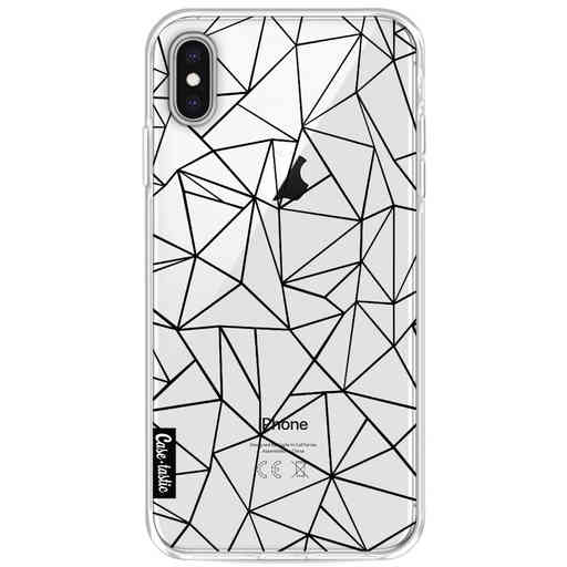 Casetastic Softcover Apple iPhone XS Max - Abstraction Outline Black Transparent