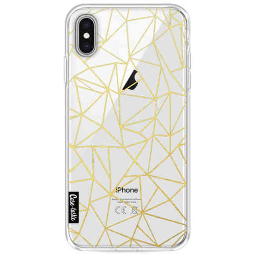 Casetastic Softcover Apple iPhone XS Max - Abstraction Outline Gold Transparent