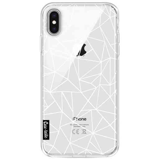 Casetastic Softcover Apple iPhone XS Max - Abstraction Outline White Transparent