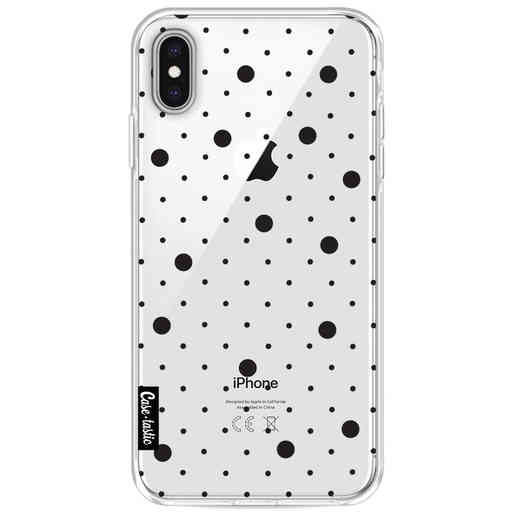 Casetastic Softcover Apple iPhone XS Max - Pin Points Polka Black Transparent