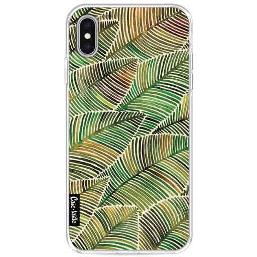 Casetastic Softcover Apple iPhone XS Max - Tropical Leaves Yellow