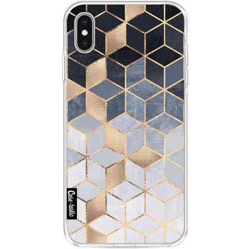 Casetastic Softcover Apple iPhone XS Max - Soft Blue Gradient Cubes
