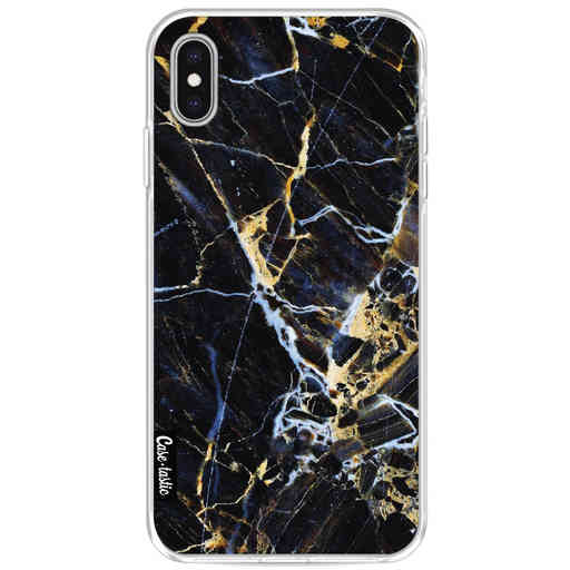Casetastic Softcover Apple iPhone XS Max - Black Gold Marble