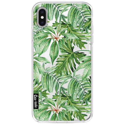 Casetastic Softcover Apple iPhone XS Max - Transparent Leaves
