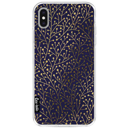 Casetastic Softcover Apple iPhone XS Max - Berry Branches Navy Gold