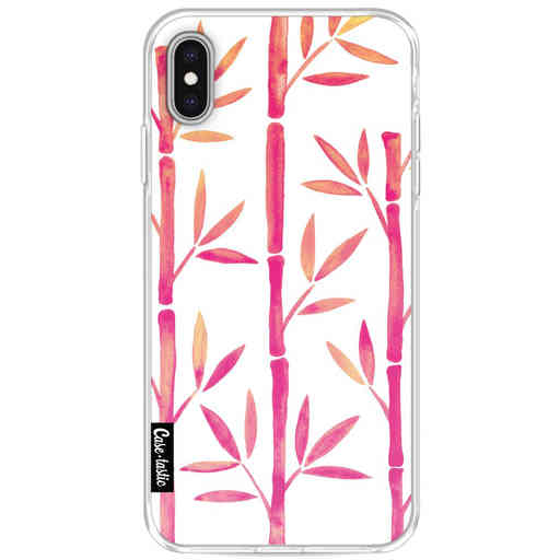 Casetastic Softcover Apple iPhone XS Max - Pink Bamboo Pattern