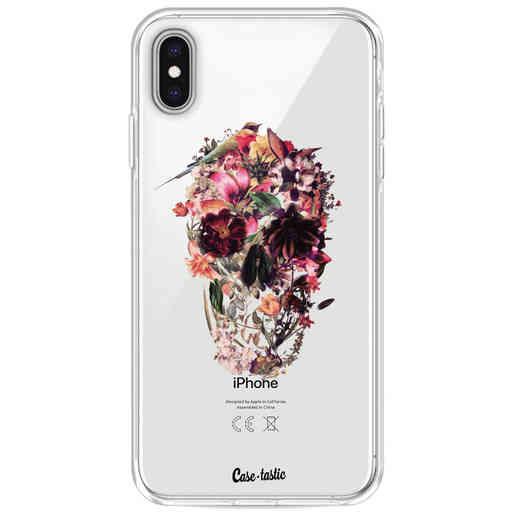Casetastic Softcover Apple iPhone XS Max - Transparent Skull