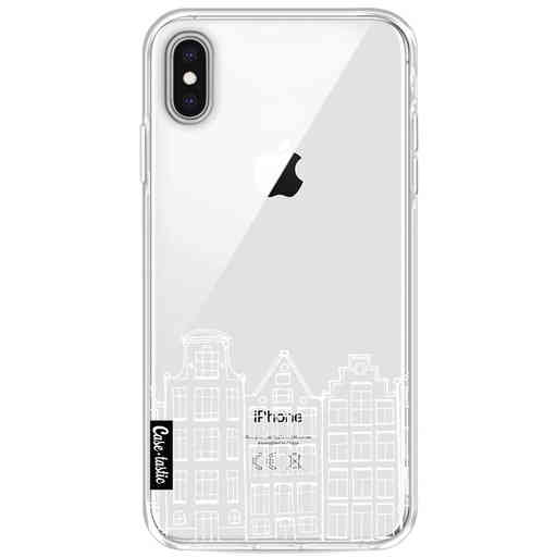 Casetastic Softcover Apple iPhone XS Max - Amsterdam Canal Houses White