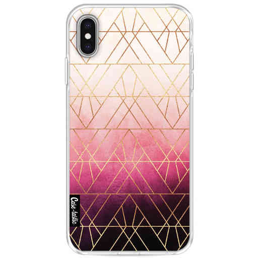 Casetastic Softcover Apple iPhone XS Max - Pink Ombre Triangles